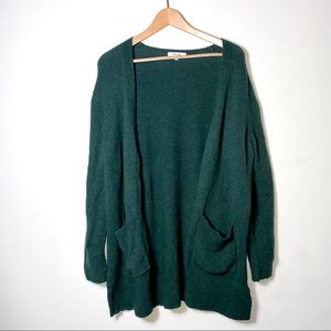 Madewell | Forest Green Open Front Cardigan
